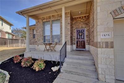 Round Rock Single Family Home For Sale: 1103 Flintwood Ct