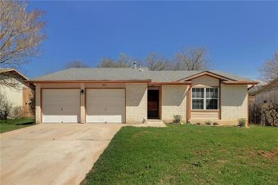 Round Rock Single Family Home Pending - Taking Backups: 1910 Easton Dr