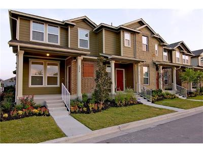 Pflugerville Condo/Townhouse For Sale: 120 Homily Dr