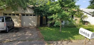 Austin Single Family Home Pending - Taking Backups: 10408 Button Quail Dr