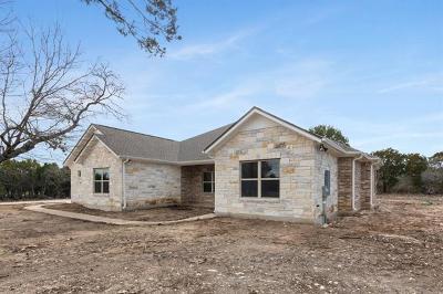 Burnet County Single Family Home For Sale: 150 Schramm Cir