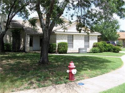 Round Rock Single Family Home Pending - Taking Backups: 1104 Peach Tree Cv