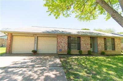 Round Rock Single Family Home For Sale: 1005 Rolling Green Dr