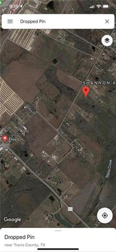 Del Valle Residential Lots & Land For Sale: 8723 Elroy Rd