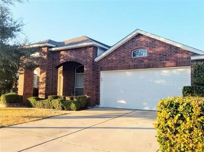 Round Rock Single Family Home For Sale: 2400 Pearson Way