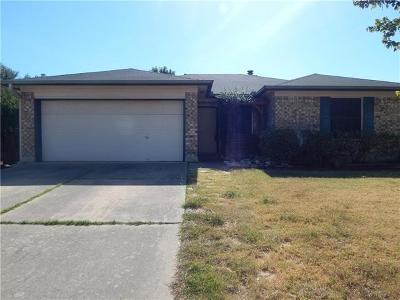 Round Rock Single Family Home For Sale: 3322 Settlement Dr