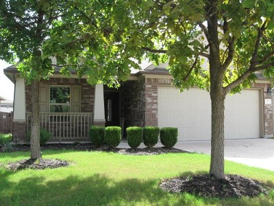 Leander Single Family Home For Sale: 176 Eagle Owl Loop