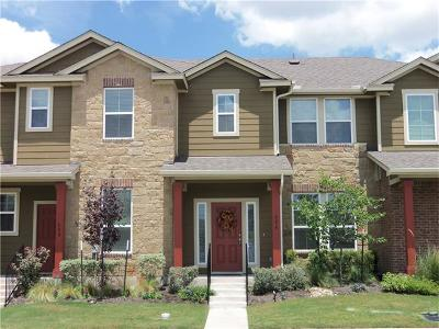 Round Rock Condo/Townhouse For Sale: 604 Tumlinson Fort Way