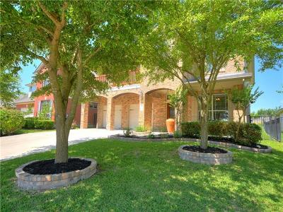 Round Rock Single Family Home For Sale: 1627 Hidden Springs Path