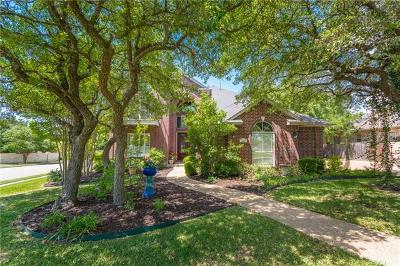 Round Rock Single Family Home For Sale: 3600 Nicholaus Cv