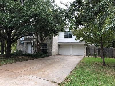 Round Rock Single Family Home For Sale: 2110 Aster Way