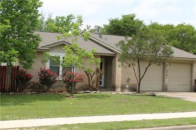 Round Rock Single Family Home For Sale: 2001 Denfield Dr