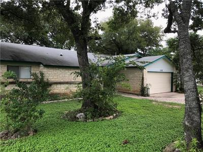 Cedar Park TX Single Family Home For Sale: $189,900