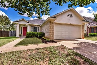 Leander Single Family Home Pending - Taking Backups: 808 Eaglecreek Dr