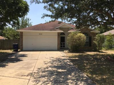 Hutto Single Family Home Pending - Taking Backups: 204 Mallard Cv