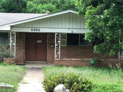 Single Family Home For Sale: 6404 Shoal Creek Blvd