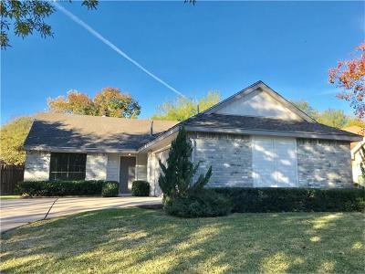Round Rock Single Family Home For Sale: 2308 Windsong Trl
