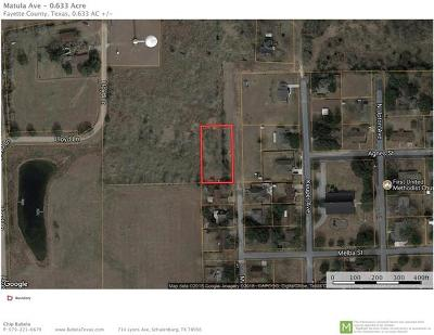 Schulenburg TX Residential Lots & Land For Sale: $32,400