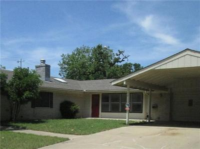 Burnet Single Family Home For Sale: 100 E Post Oak St