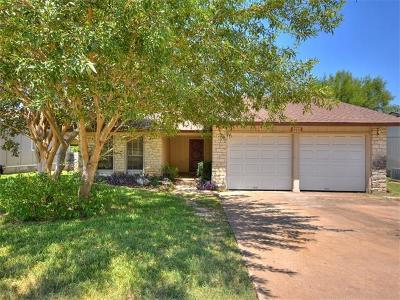 Round Rock Single Family Home For Sale: 3916 Stoney Hl