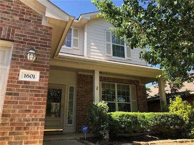 Cedar Park Single Family Home For Sale: 1601 Hawk Dr