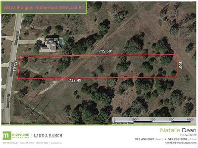 Driftwood Residential Lots & Land For Sale: 10222 Brangus Rd