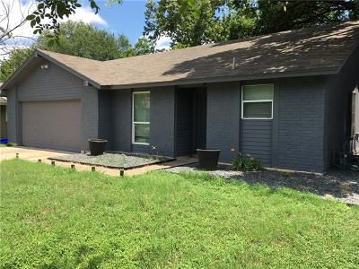 Austin Single Family Home For Sale: 1208 Milford Way