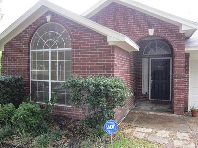 Round Rock Single Family Home For Sale: 1525 Arusha St