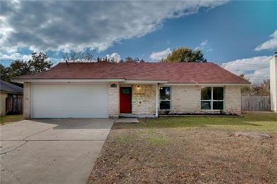 Round Rock Single Family Home For Sale: 1708 Crestline Ct