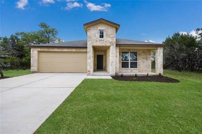Lago Vista Single Family Home For Sale: 21722 Crystal Way