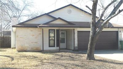 Round Rock Single Family Home For Sale: 2006 James Pl