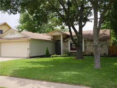 Cedar Park Single Family Home Pending - Taking Backups: 1323 Butternut Pl