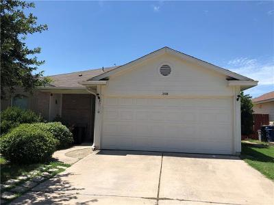 Hutto Single Family Home Pending - Taking Backups: 208 Watergate Way