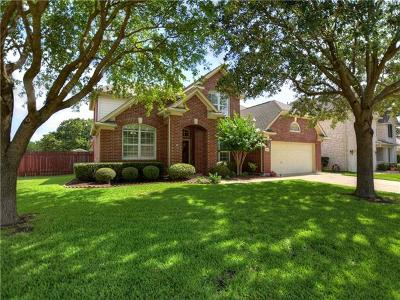 Round Rock Single Family Home For Sale: 2816 Chatelle Dr