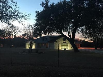 Burnet County Single Family Home Pending - Taking Backups: 1690 County Road 116b