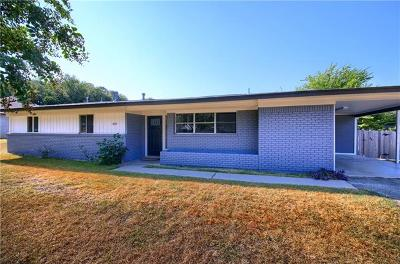Round Rock Single Family Home For Sale: 601 Lilac Dr