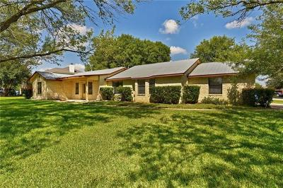 Hutto Single Family Home For Sale: 107 Cottonwood Dr