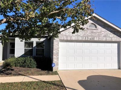 Round Rock TX Single Family Home For Sale: $207,000