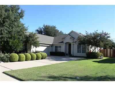 Round Rock Single Family Home For Sale: 3211 Dawn Mesa Ct