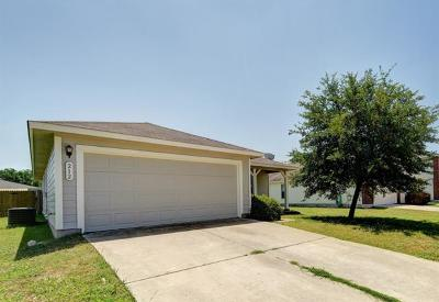 Hutto Single Family Home For Sale: 212 Madison Ln