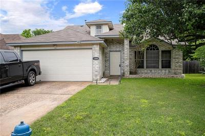 Round Rock Single Family Home Pending - Taking Backups: 1806 Hollow Tree Blvd