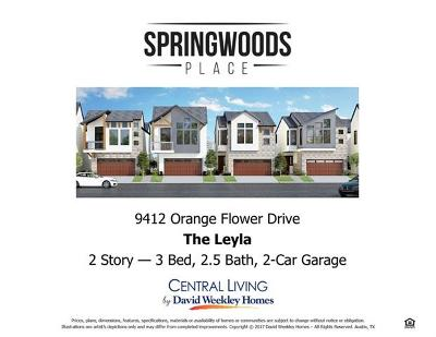 Travis County, Williamson County Single Family Home For Sale: 9412 Orange Flower Dr