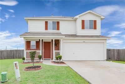 Hutto Single Family Home Pending - Taking Backups: 326 Mitchell Dr