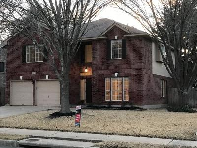 Round Rock Single Family Home For Sale: 1812 Cedar Bend Dr