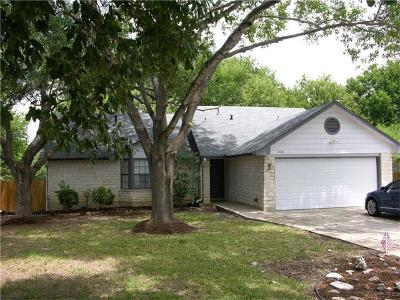 Round Rock Single Family Home Pending - Taking Backups: 2106 Yaupon Holw