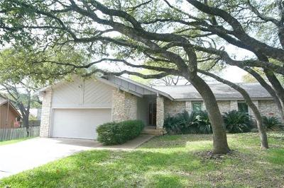 Austin Single Family Home Active Contingent: 6607 Three Oaks Cir