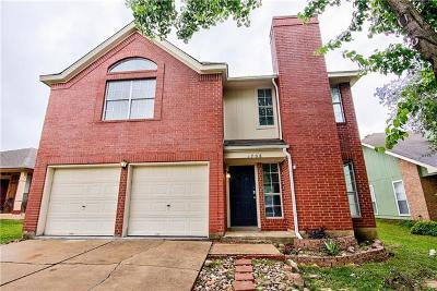 Round Rock Single Family Home For Sale: 1708 Southwestern Trl
