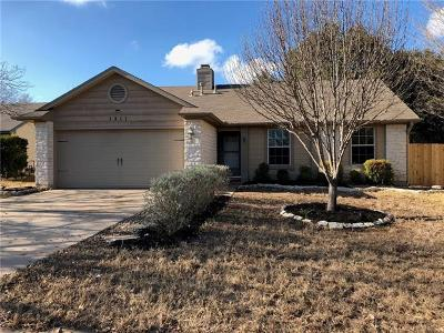 Cedar Park Single Family Home For Sale: 1311 Deepbrook Path