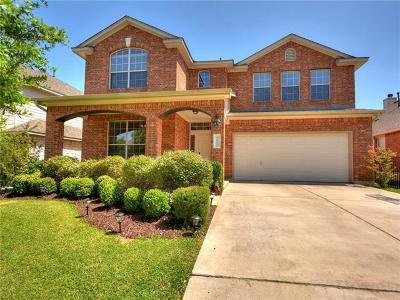 Round Rock Single Family Home For Sale: 1611 Hidden Springs Path