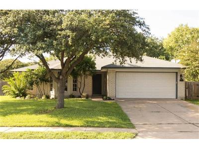 Cedar Park Single Family Home For Sale: 1413 Vaughter Ln